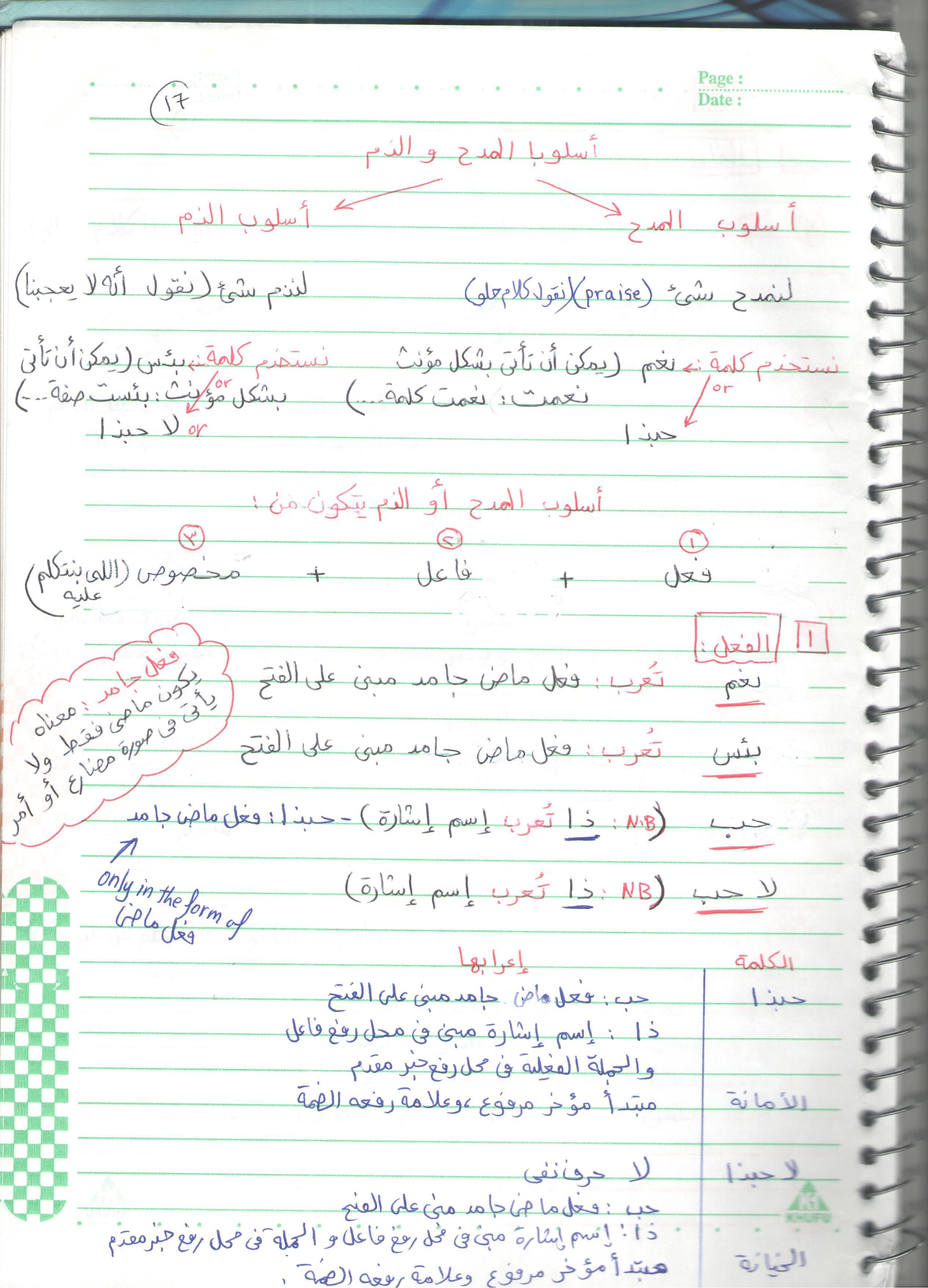 نحو 3 اعدادى 17 39 Learning Arabic Arabic Language Arabic Worksheets