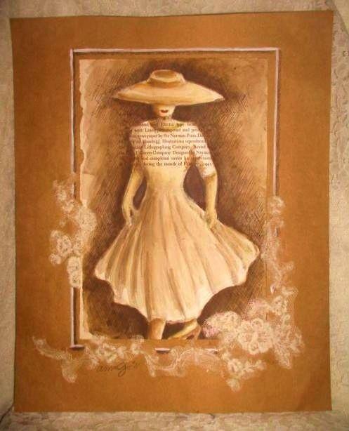 1940s fashion silhouette