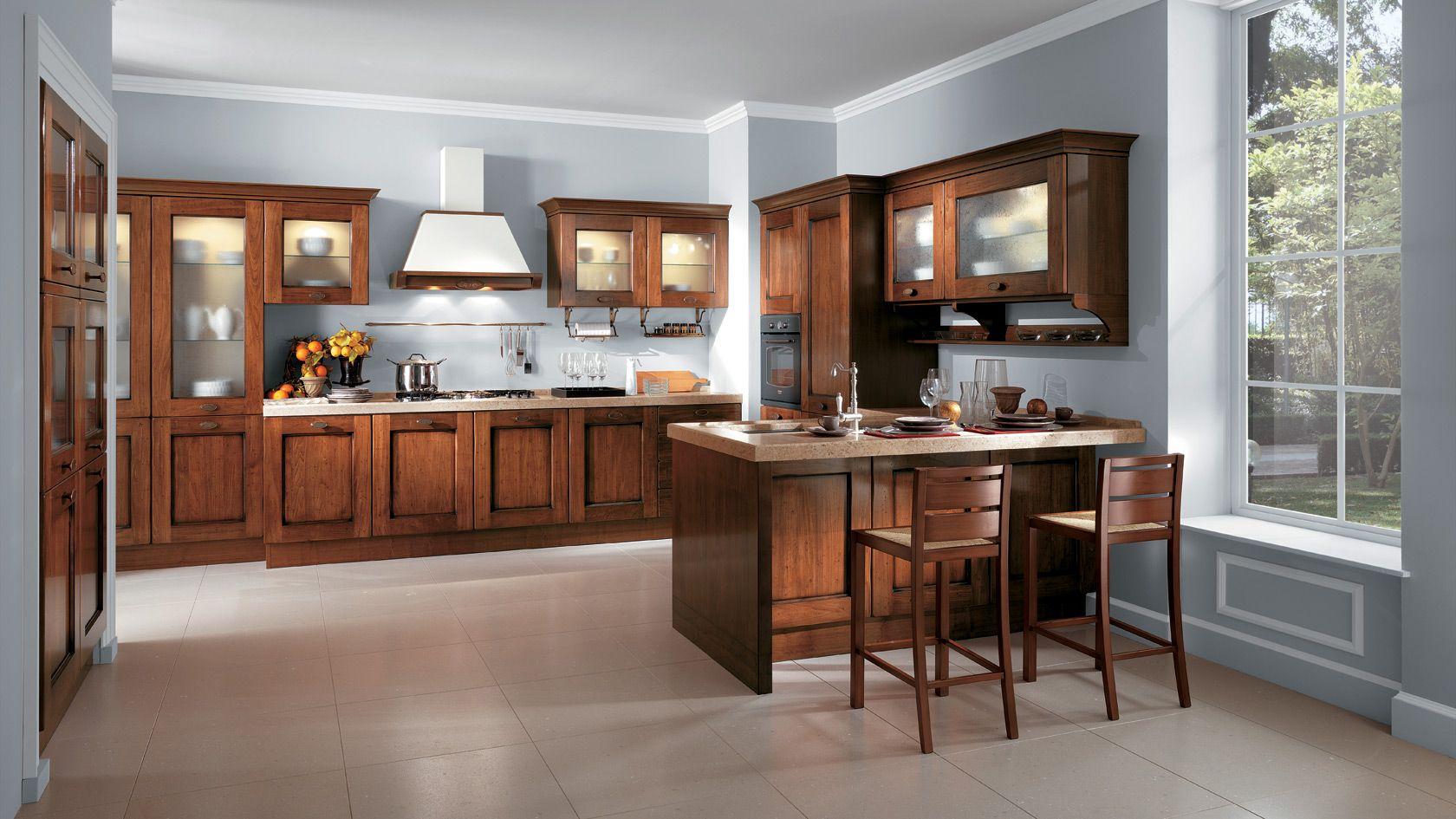 Cucina in legno Amélie | Sito ufficiale Scavolini | Cucine classiche ...