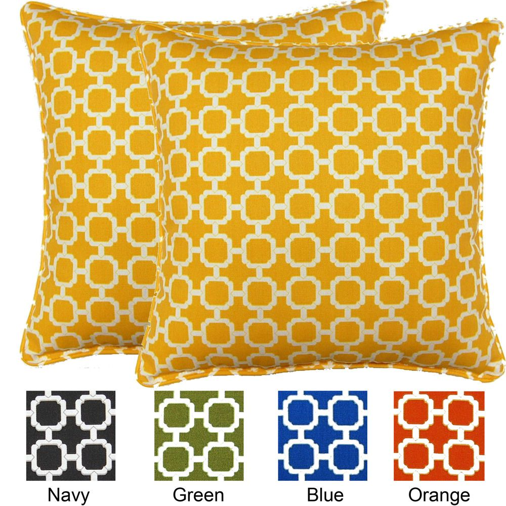 Hockley 17 Inch Outdoor Pillows Set Of 2 Yellow Fox Outdoor