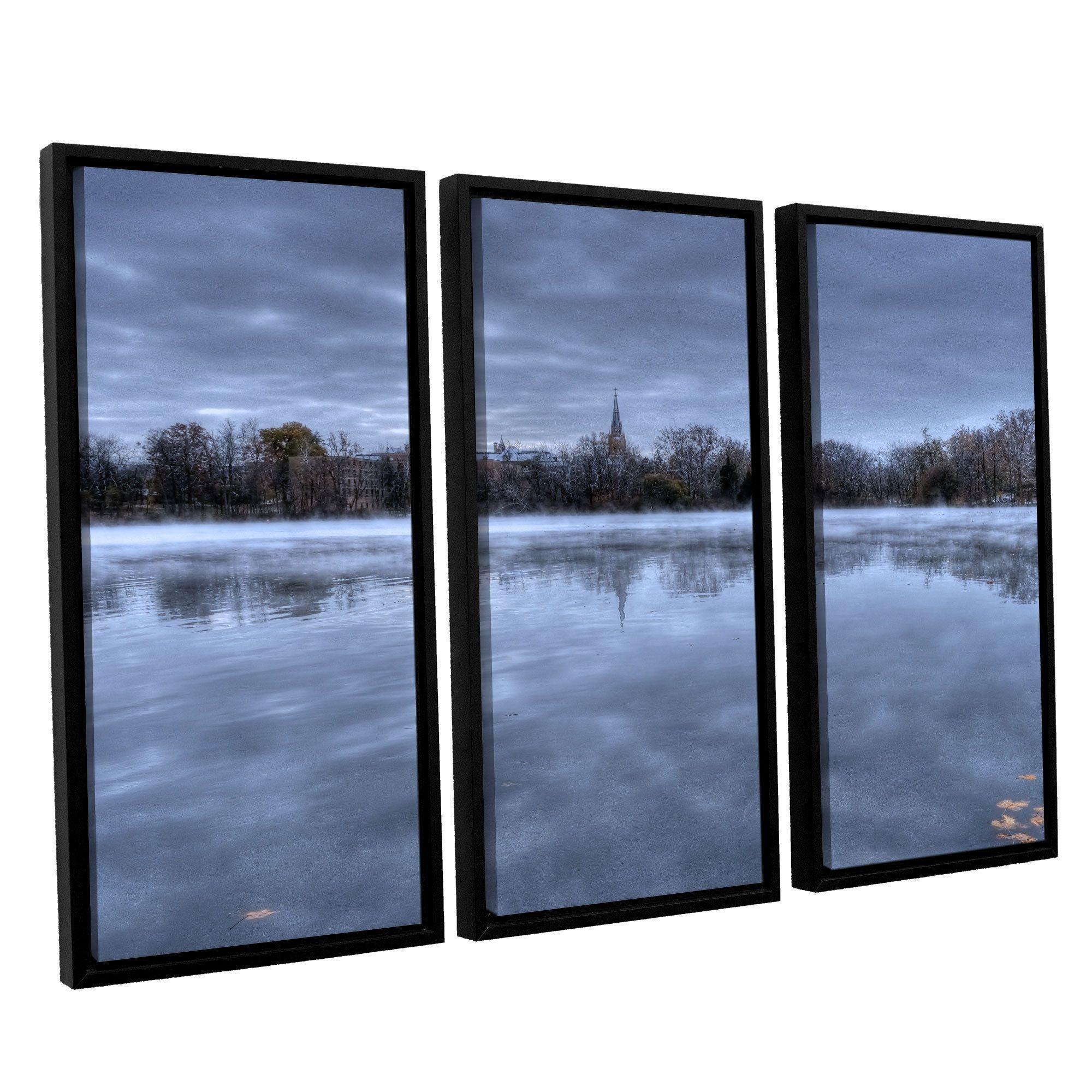 ArtWall 'Dan Wilson's The Basilica-Notre Dame' 3-piece Floater Framed Set (36x54)