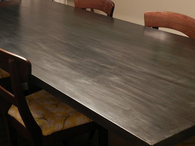 Attractive Faux Zinc Finish To Dining Table.... Or Heardboard