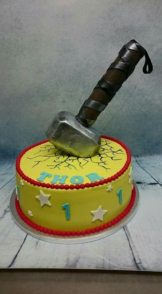 Thor cake Children Cake Pinterest Thor cake Cake and