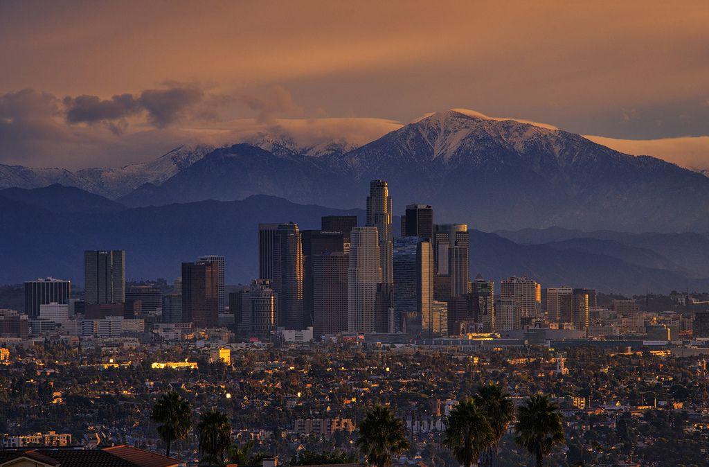 November Sunrise Los Angeles Ca Los Angeles Wallpaper Los Angeles City San Gabriel Mountains