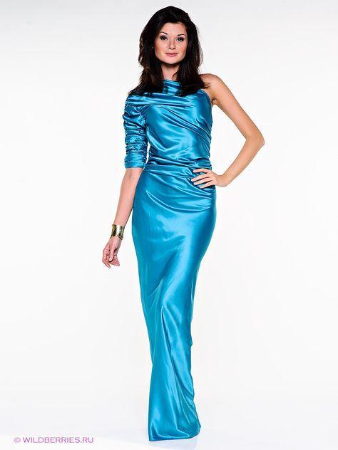 Sea blue satin dress | Prom/Bridesmaid/Evening Dresses | Pinterest ...