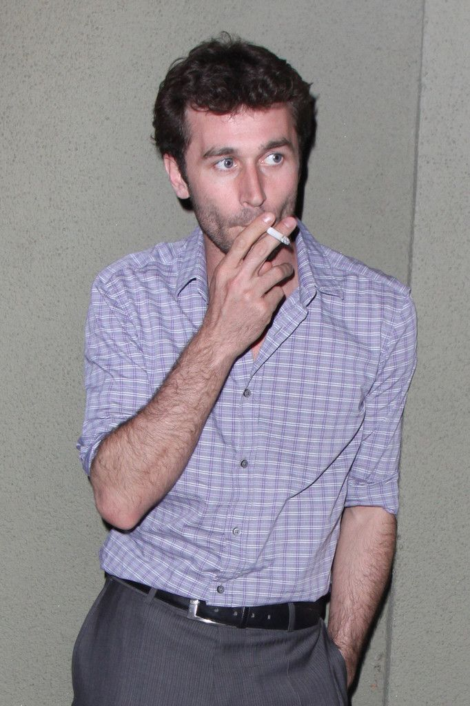 James Deen smoking a cigarette (or weed)