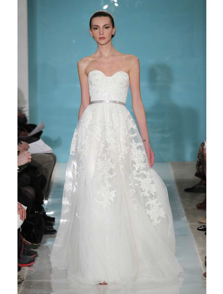 Reem Acra Discount Designer Lace Wedding Dresses | www ...