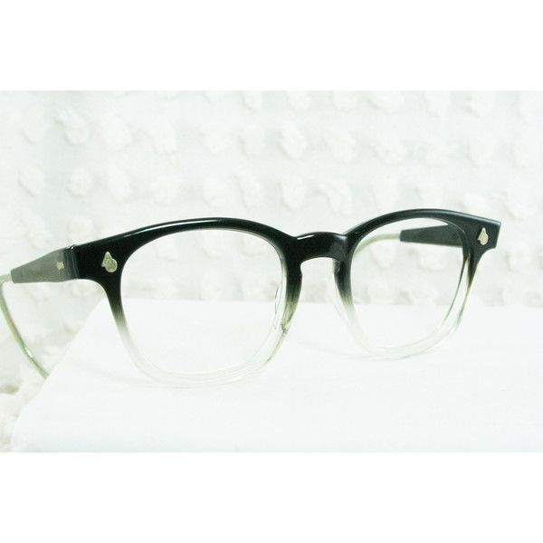6bed73cb78b3 60s Mens Glasses 1960 s Safety Eyeglasses Black Clear Two Tone Fade...  ( 109) ❤ liked on Polyvore
