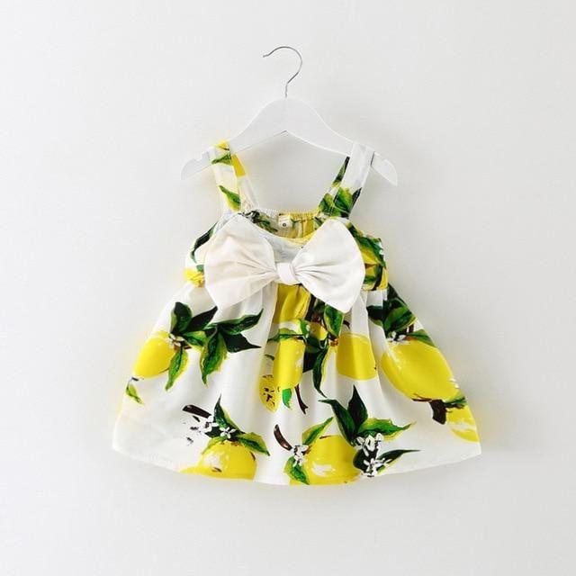 1f7eeba85626 Summer Baby Girl Dress Lemon Print Newborn Infant Dresses ...