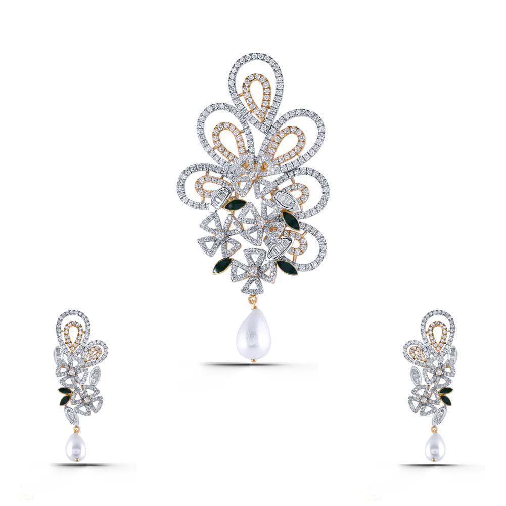 Caesy cuddle diamond gold pendant set sps buying rings