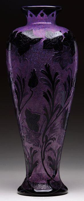 James D Julia Inc Steuben Vase Purple Pinterest Glass