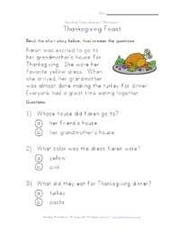 Thanksgiving reading worksheet worksheets thanksgiving pinterest thanksgiving reading worksheet ibookread Download