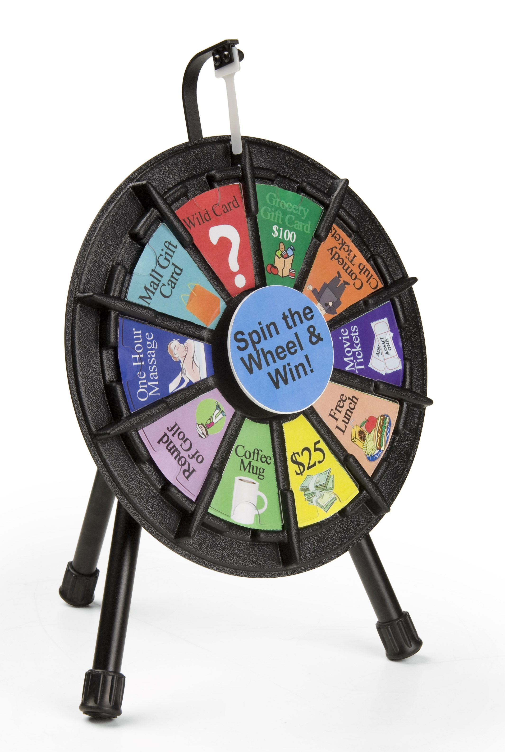 Prize Wheel With 10 Slots Printable Templates Countertop Mini Black Prize Wheel Template Printable Wheel
