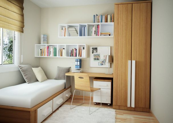 How To Decorate A Small Bedroom With One Window Minimalist Bedroom Design Small Room Bedroom Small Room Design