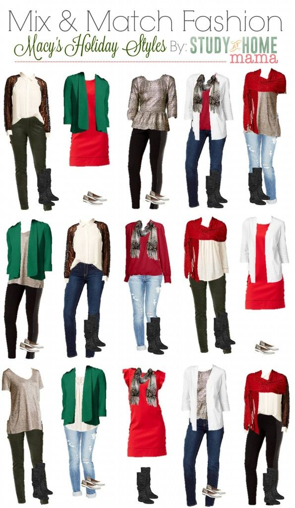 Mix   Match Holiday Fashion                                everydaysavvy likewise     Holiday fashion help as arrived with this helpful post on Mix   Match