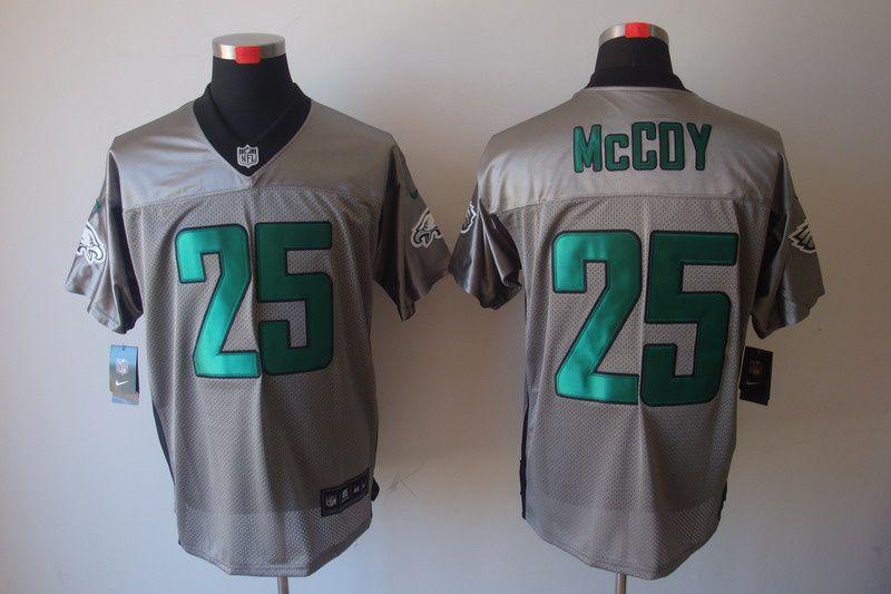 nfl jerseys · 25 lesean mccoy grey philadelphia eagles shadow elite jersey