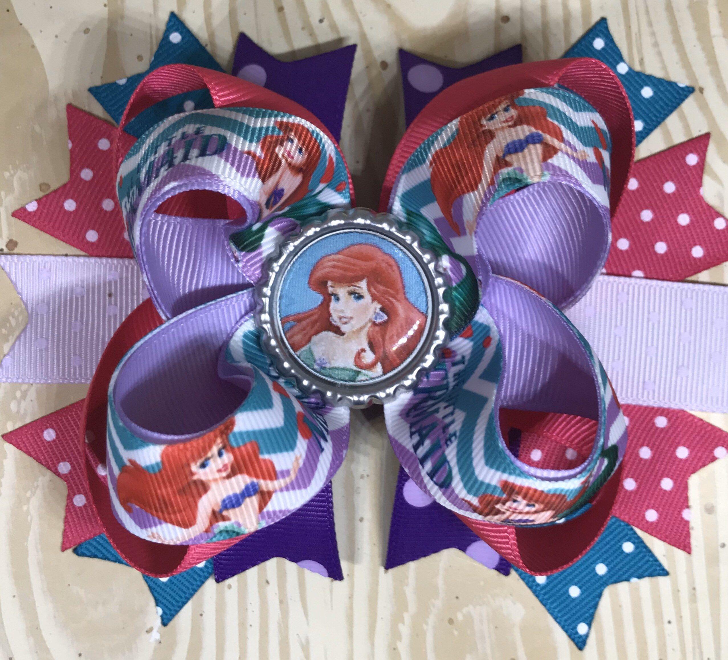 Disney Mermaid bow Ariel Bow Disney Ariel Bow Disney Princesses bow Little Mermaid Bow