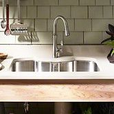 """Found it at Wayfair - Octave 32"""" x 20-1/4"""" x 9-5/16"""" Under-Mount Double-Equal Stainless Steel Kitchen Sink"""