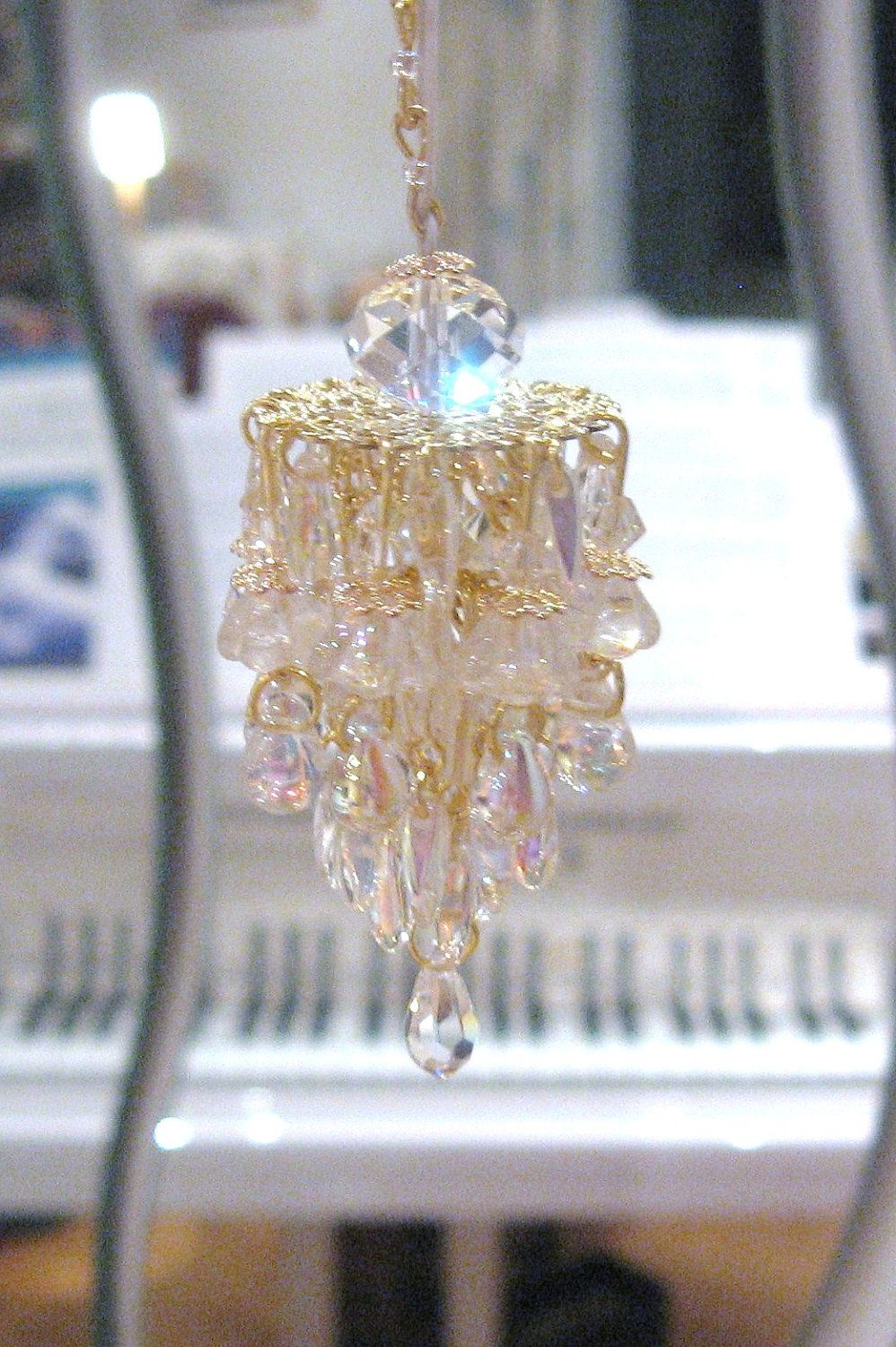 Dollhouse chandelier light glass and crystals aurora borealis dollhouse chandelier light glass and crystals aurora borealis 2000 via etsy arubaitofo Image collections