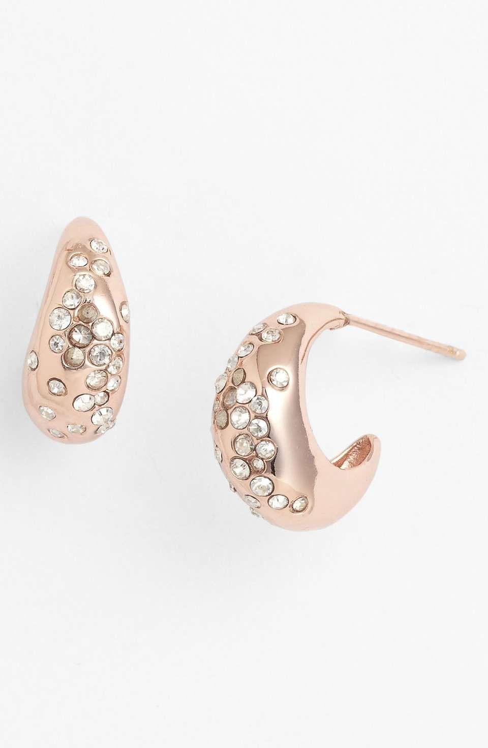 Alexis Bittar 'Miss Havisham' Small Hoop Earrings Hoop