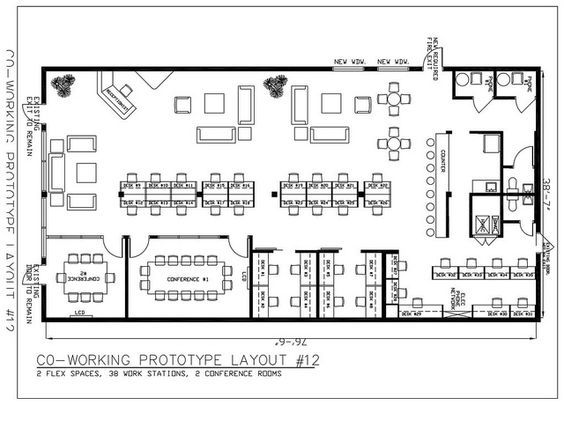 Office PlanOffice IdeasOffice Layout PlanWarehouse OfficeCoworking SpaceArchitecture