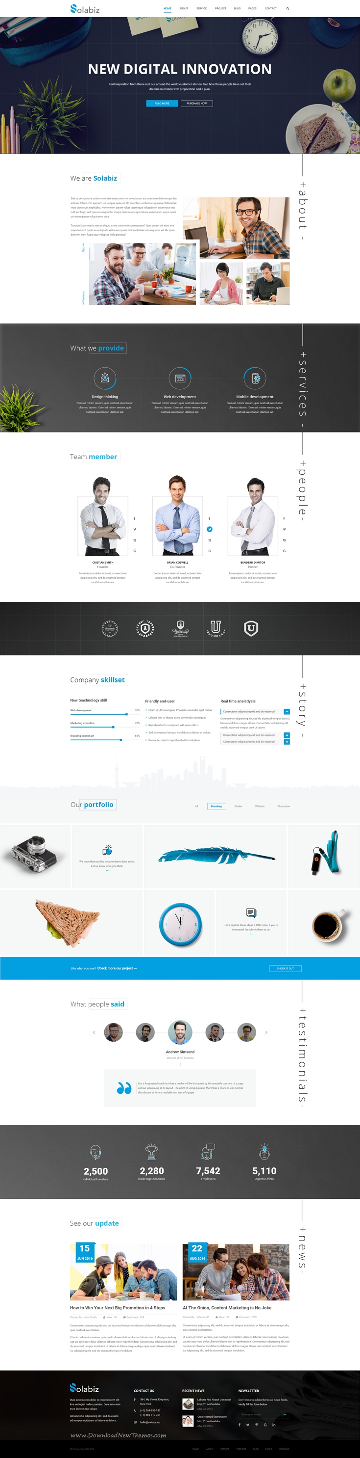 Solabiz is wonderful premium #PSD #Template for multipurpose ...