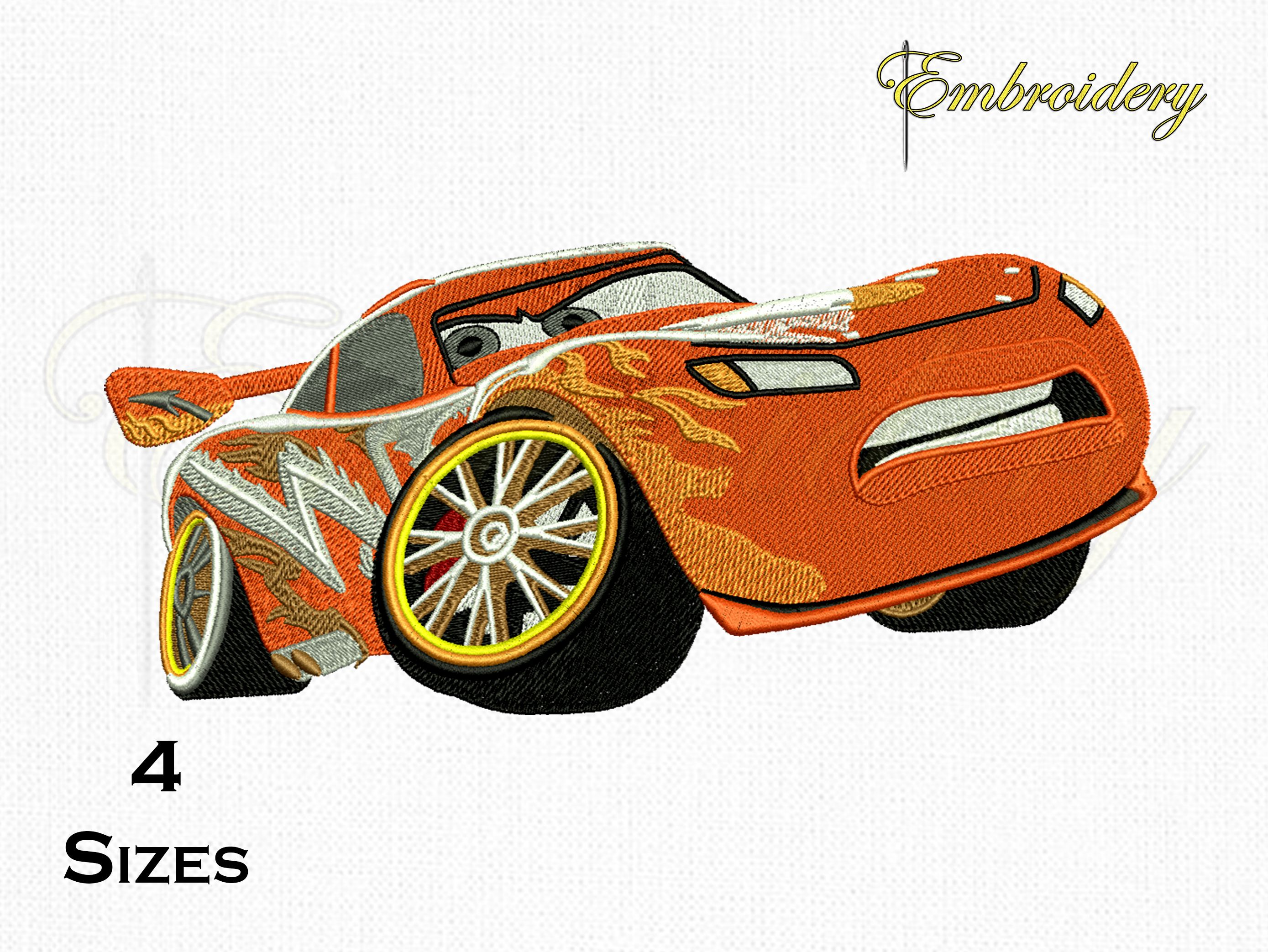 Lightning Mcqueen Car Embroidery Designs