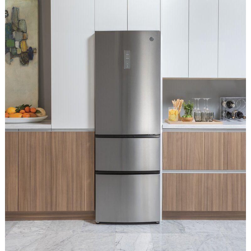 Ge Appliances 24 Energy Star Counter Depth Bottom Freezer 11 9 Cu Ft Refr In 2020 Bottom Freezer Refrigerator Counter Depth Refrigerator Refrigerator Small Kitchen