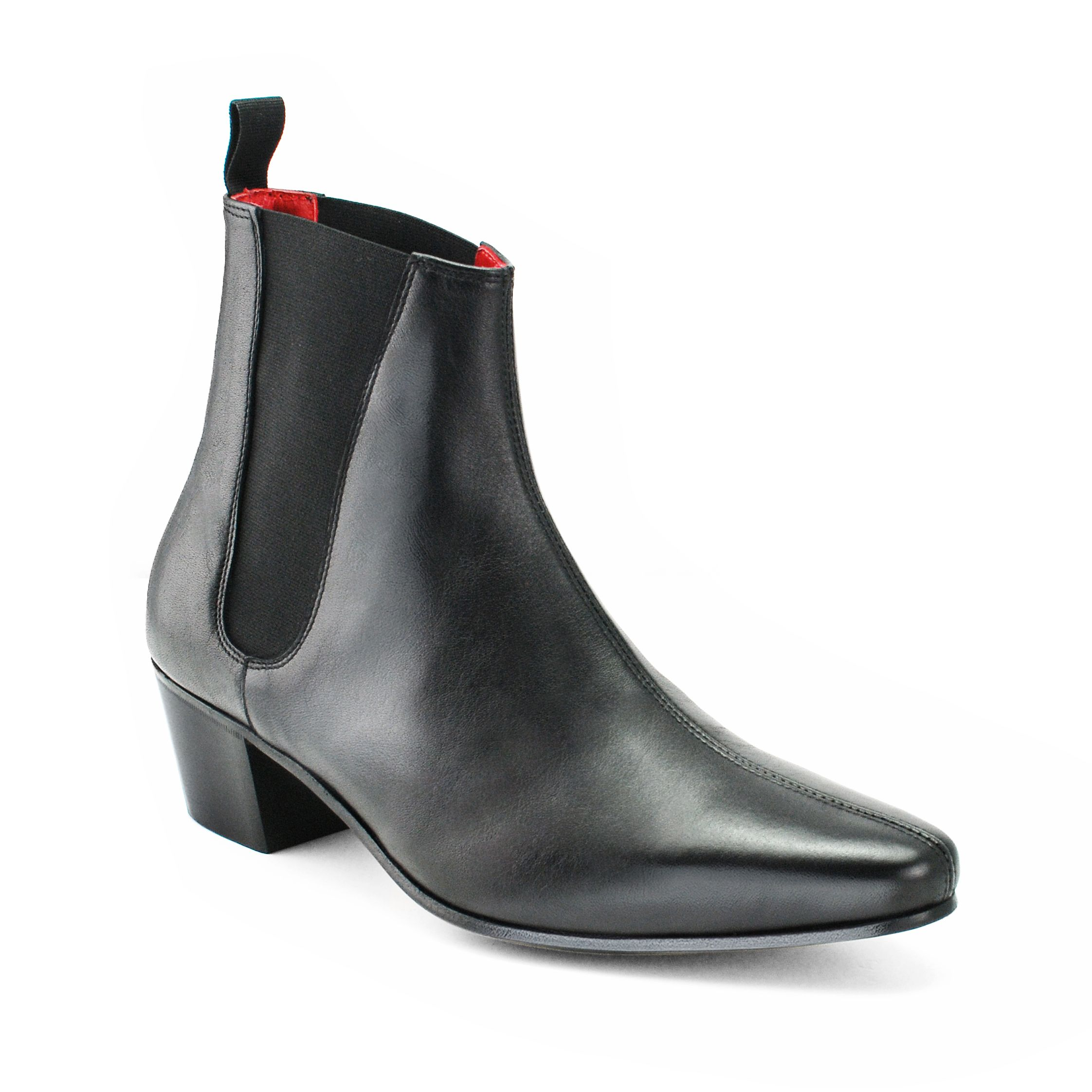 From The Beatwear Cavern Boot Collection The High Cavern Boot in Black Calf  Leather Premium Italian Calf Leather Finish UpperPull on ankle boot with ...