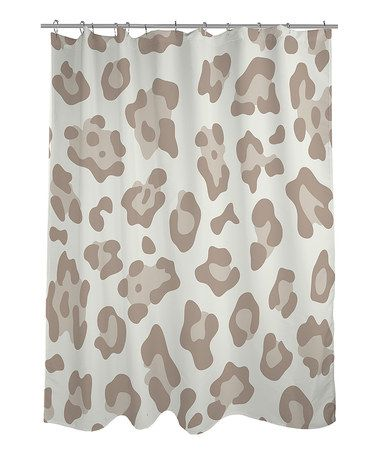 Take A Look At This Ivory Oatmeal Leopard Shower Curtain By OneBellaCasa On Zulily Today