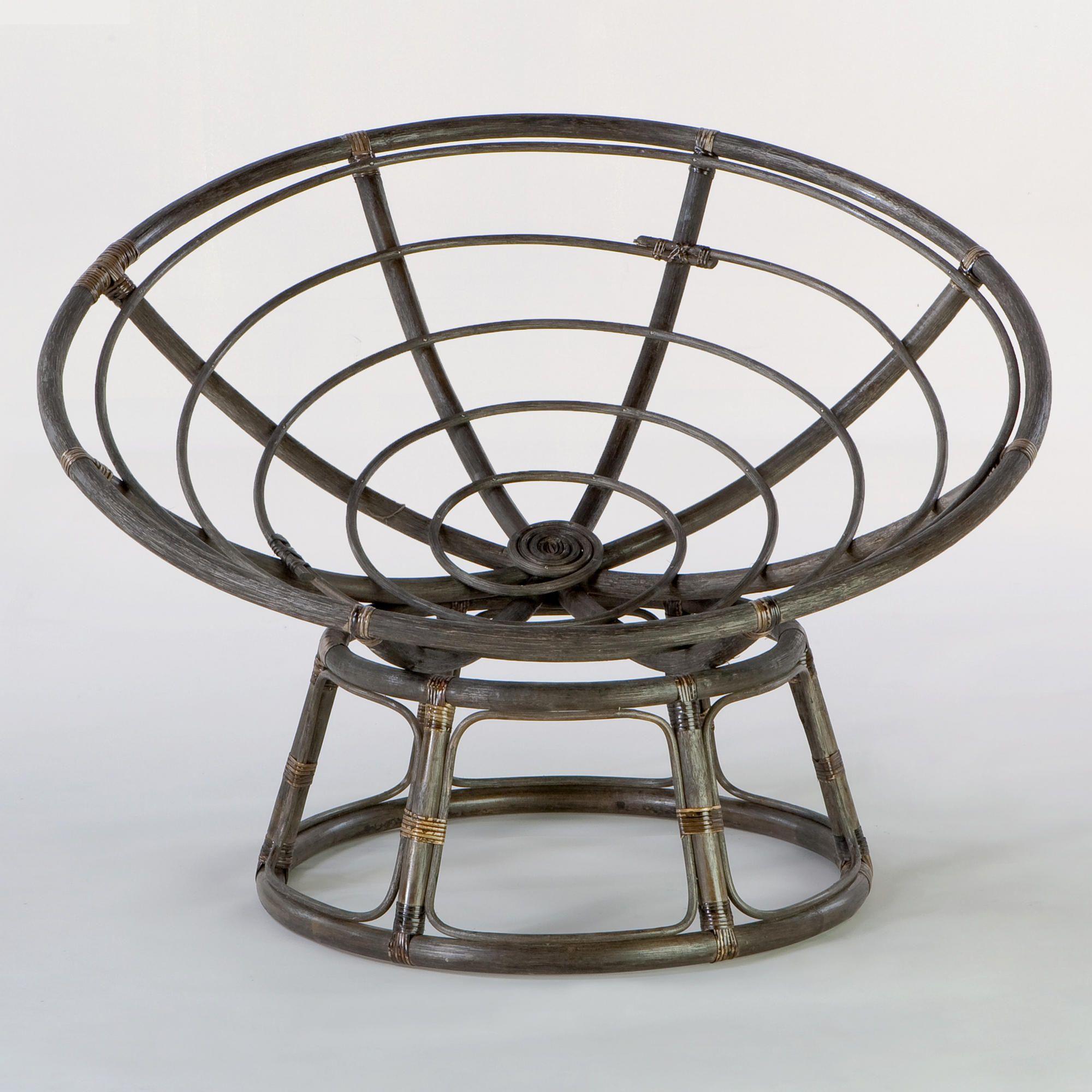 Espresso Rattan Papasan Chair Frame Papasan Chair Frame Papasan Chair Taupe Chair