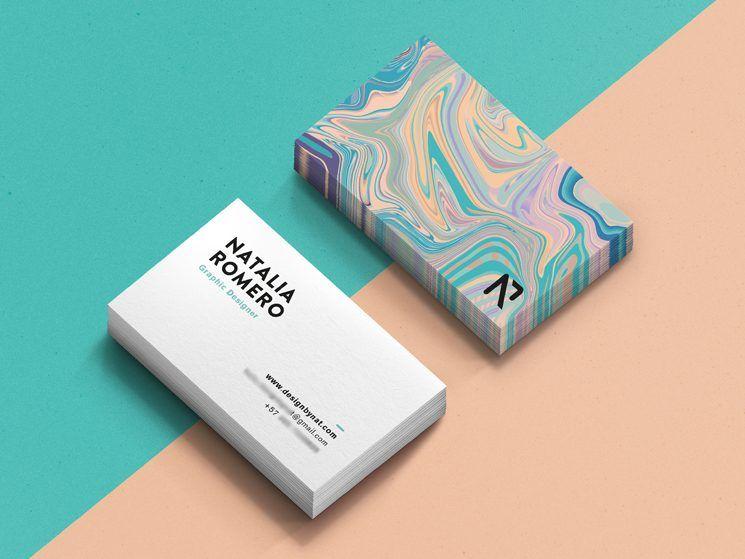 Natalia Romero Business Card Business Card Design Inspiration Graphic Design Business Card Freelance Graphic Design Business Card Inspiration