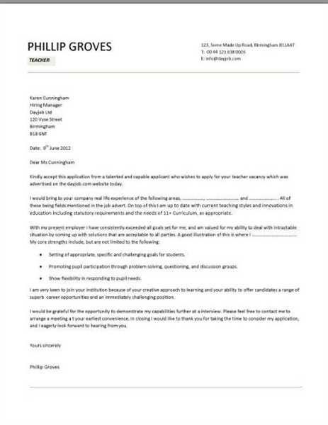 teacher aide cover letter teachers sample special needs teaching ...