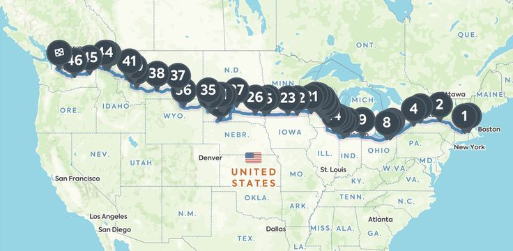 Detour Dujour The Ultimate Road Trip Guide To I 90 From Boston To - Us-interstate-90-map