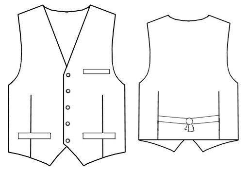 Waistcoat - Sewing Pattern #6063   Do it   Pinterest   Diy nähen und ...