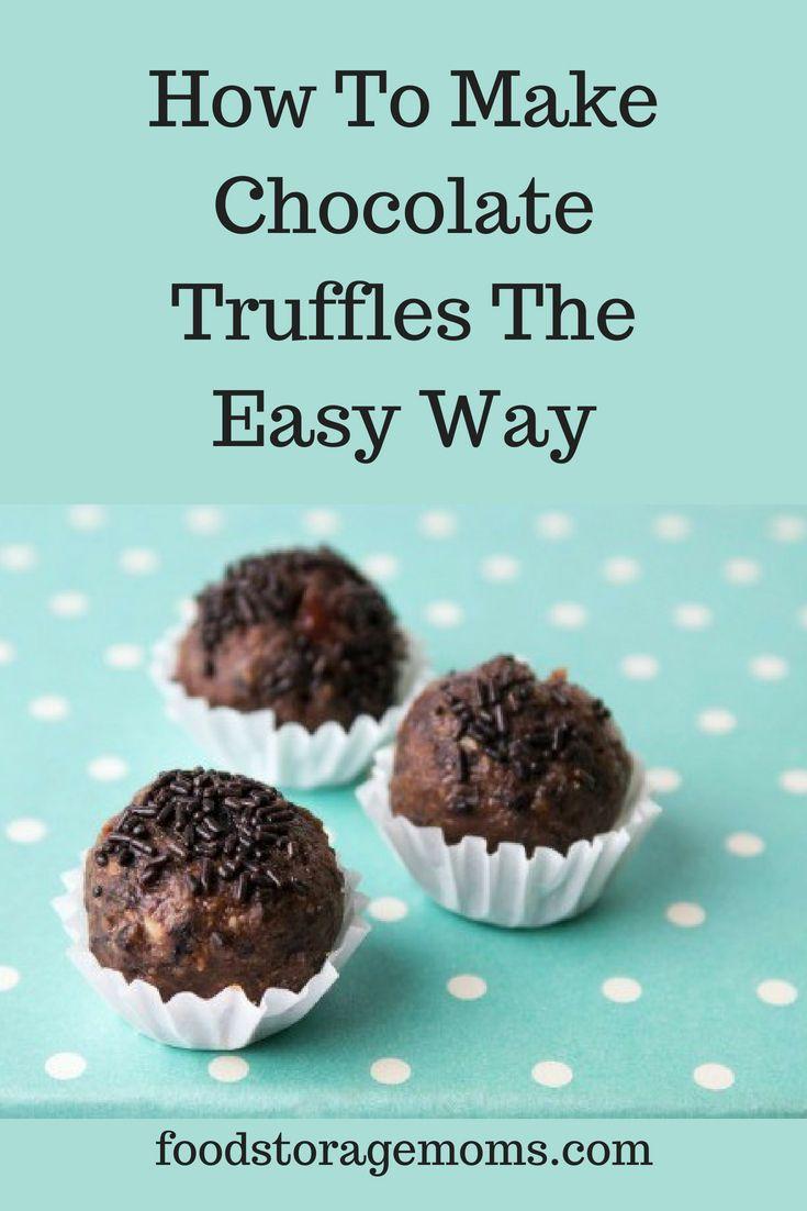how to make chocolate truffels