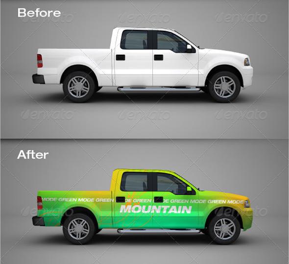 45 Best Truck And Pickup Mockups 2020 Psd Free Premium Download Cool Trucks Psd Free Mockup