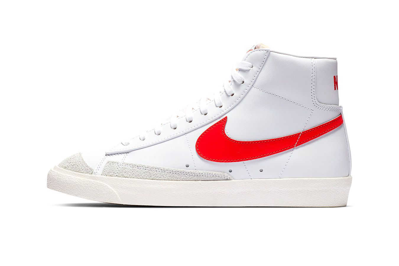 9fbe00d7d9ff Nike Blazer Mid 77 vintage 2019 info sportswear kicks og colorway red  classic basketball retro january 1 drop date BQ6806-600 Habanero Red white  orange