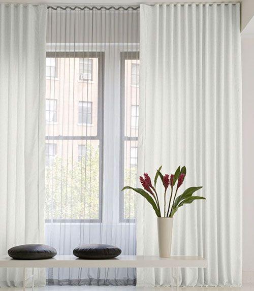 Sheer Curtains Across A Wall Ripple Fold Drapes Ripplefold