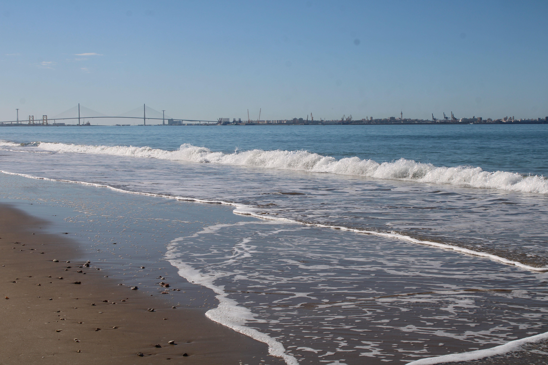 paisajes desde la playa de santa catalína en El Puerto de Santa María