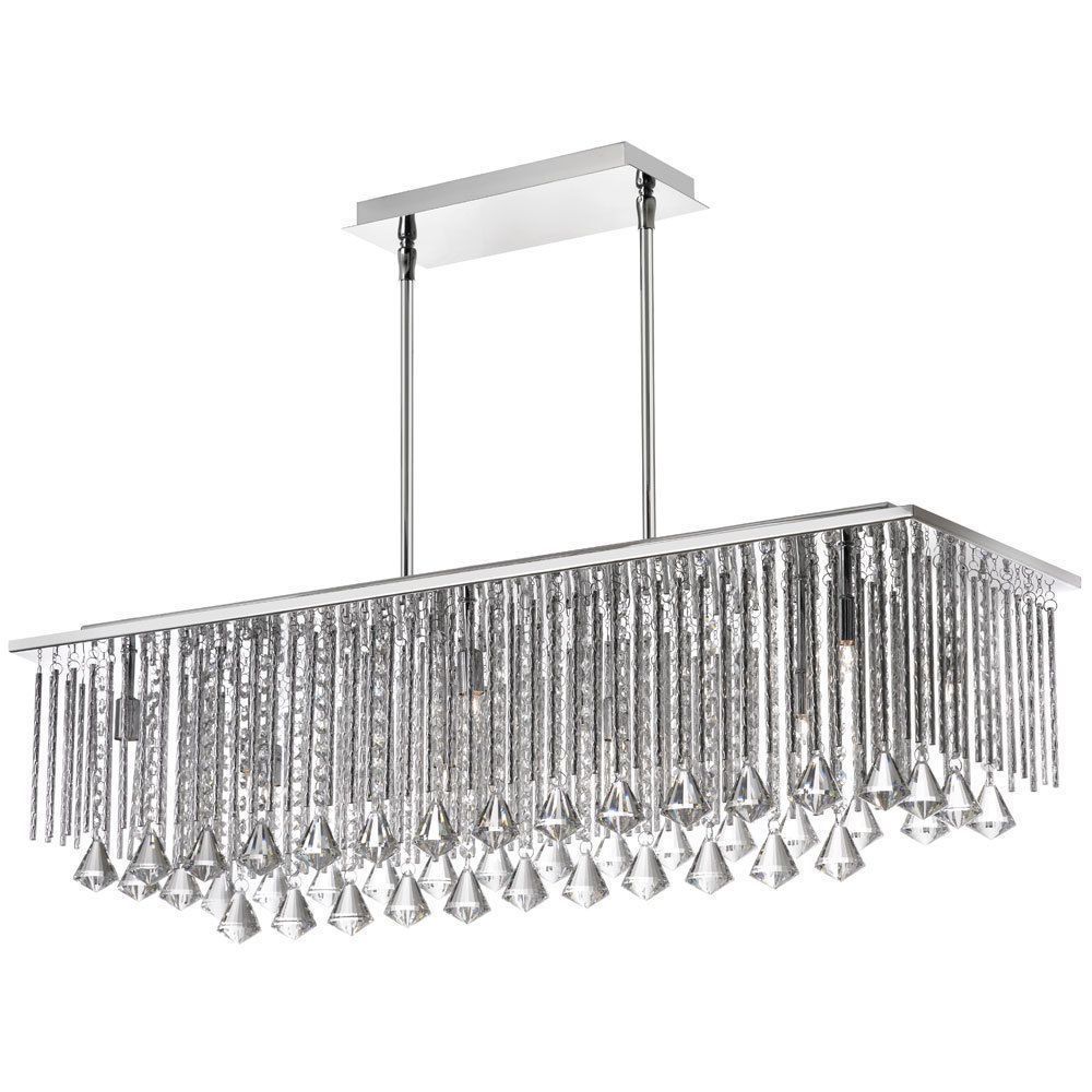 The jacqueline horizontal chandelier features long narrow for Rectangular dining room light