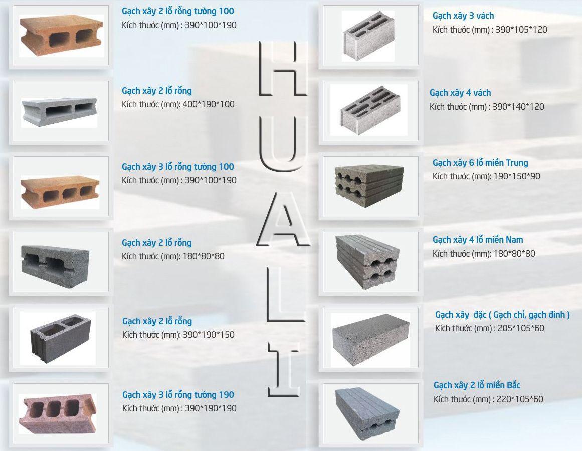 Một số loại gạch block ưa chuộng tại Việt Nam http://huali.vn/wp-content/uploads/2017/01/mot-so-loai-gach-block.jpg
