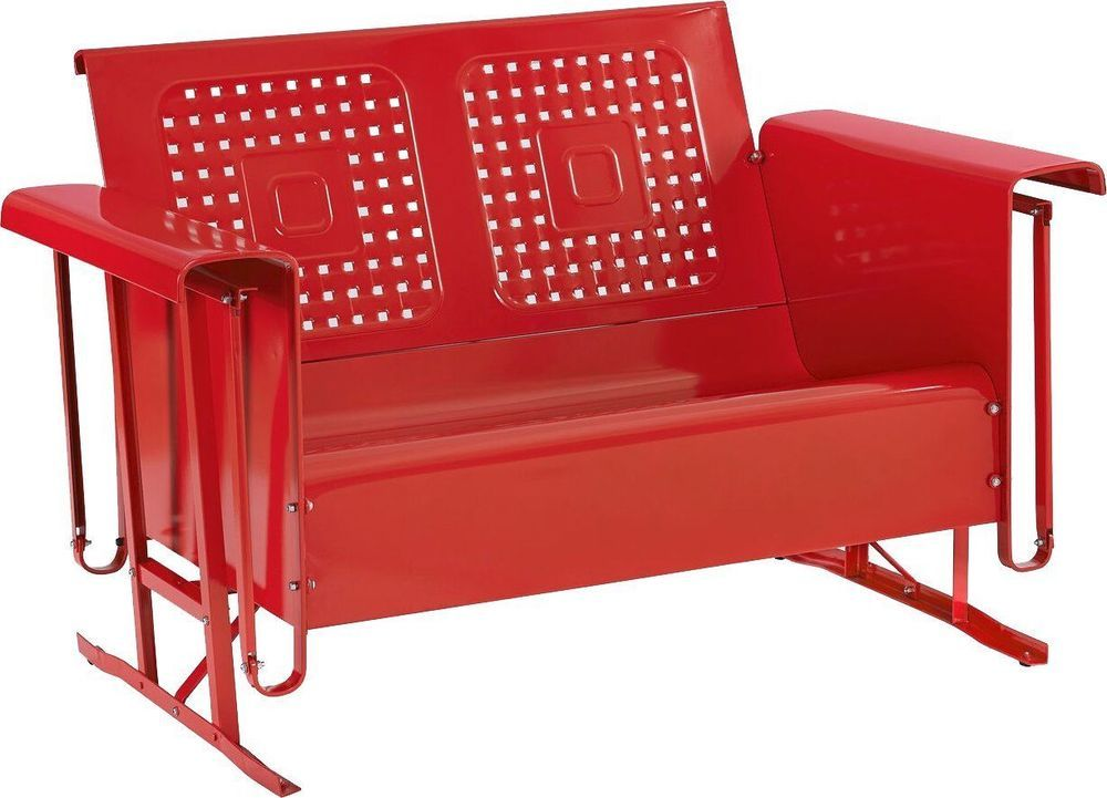 Prime Retro Outdoor Bench Glider Red Patio Metal Furniture Garden Andrewgaddart Wooden Chair Designs For Living Room Andrewgaddartcom