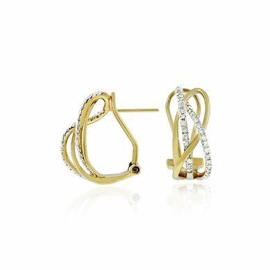 Fashion Diamond Earring in 14k Yellow Gold (TCW .27)