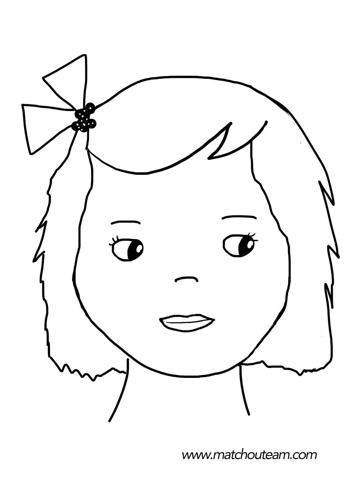 Maquillage enfants inspirations inspiration - Coloriage fillette ...