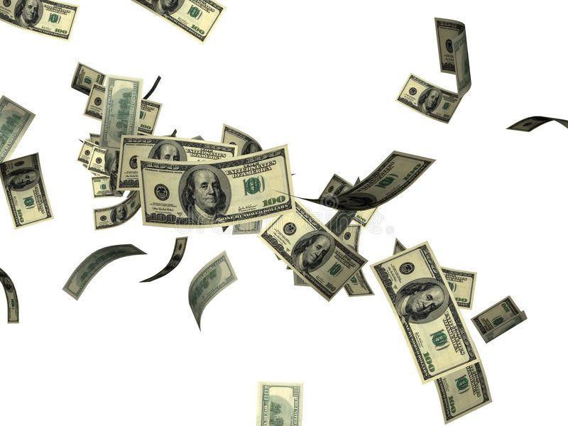 Falling 100 Dollar Bills Falling American 100 Dollar Bills Money Against White Affiliate Dollar Bills Falling 100 Dollar Bill Dollar Bill Bills Fall