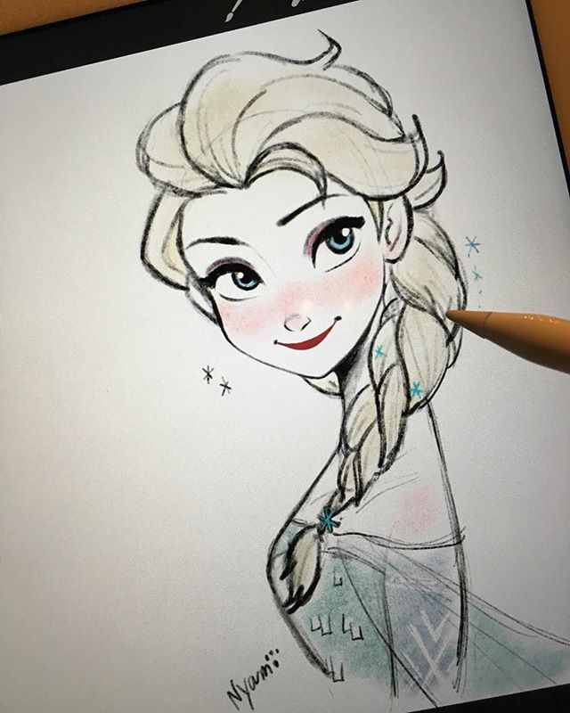 Frozen art | Disney princess drawings, Princess drawings ...