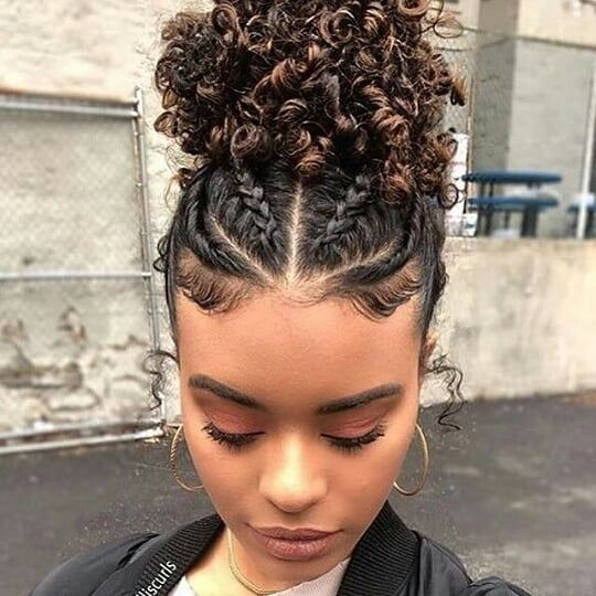 The Best Protective Hairstyles For Transitioning Hair Natural Hair Styles Curly Hair Styles Transitioning Hairstyles