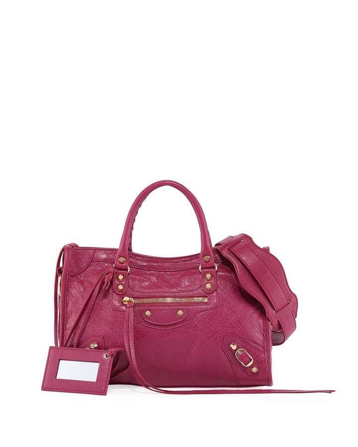 ebc44fb51f Classic City AJ Leather Satchel Bag Pink | Products | Balenciaga ...