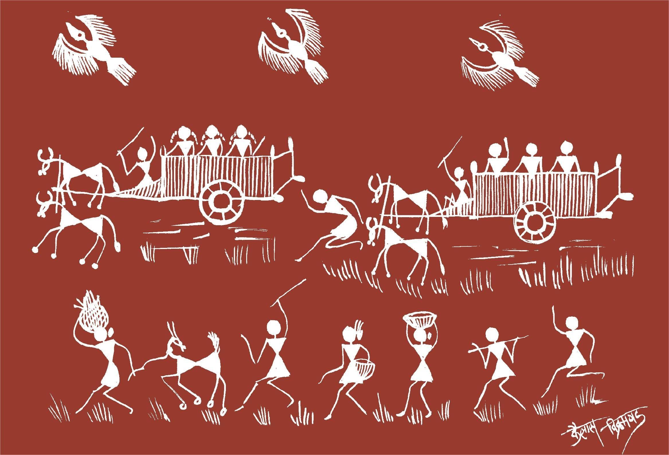 130 Warli Inspiration ideas | worli painting, tribal art, indian folk art